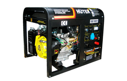 Бензиновый генератор Huter DY6500LXW с функцией сварки