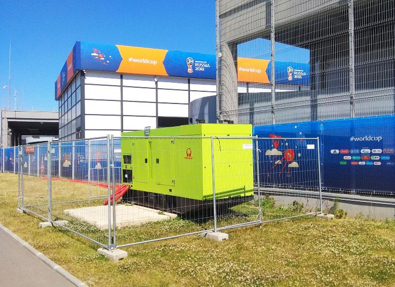 Электростанции Pramac для ЧМ FIFA 2018 в СПб